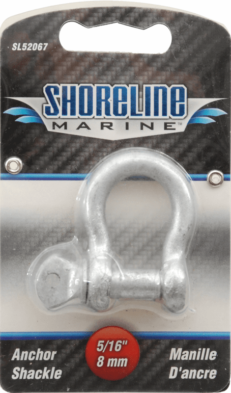 "Shoreline 5/16"" Galvanized Anchor Shackle"
