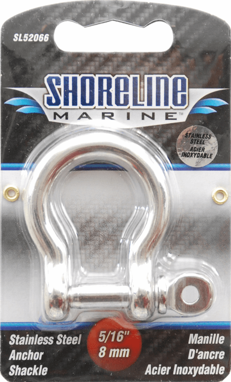 "Shoreline 5/16"" Stainless Anchor Shackle"