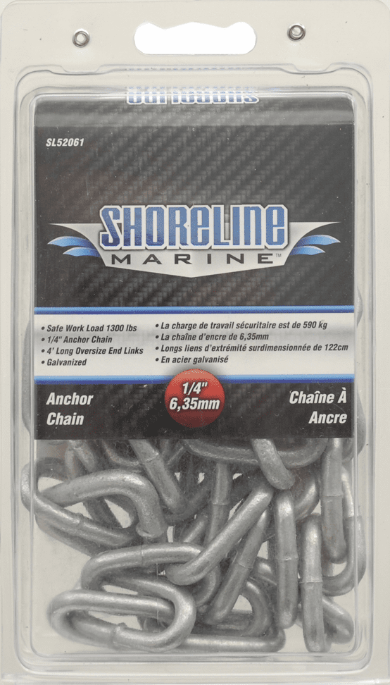"Shoreline Anchor Chain 1/4"" x 4'"