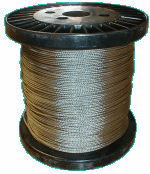 Stainless Steel 7 x 7 Stranded Cable 1,000' Bulk Spools