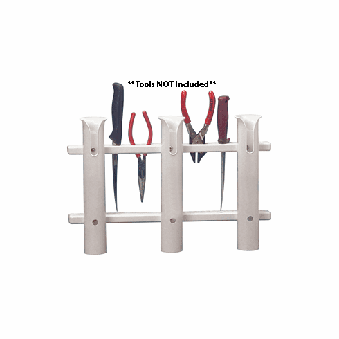 Taco 3-Rod Poly Rod Rack - White