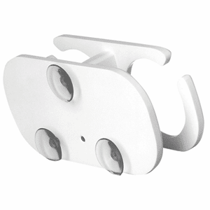 Taco Metals 2-Drink Poly Cup Holder with Suction Cup Mounts - White