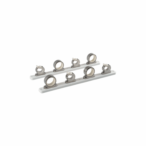 Taco Metals 4-Rod Hanger w/Poly Rack - Polished Stainless Steel