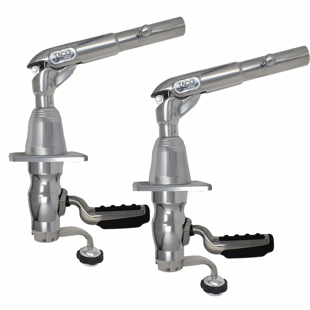 Taco Metals Grand Slam 390 Outrigger Mount w/Offset Handle (Pair)
