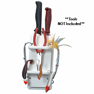 Taco Metals Poly Knife, Plier & 15-Rig Holder - White