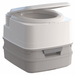Thetford Porta Potti 260B Marine Toilet with Bellows Pump and Hold-Down Kit