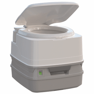 Thetford Porta Potti 260P Marine Toilet with Piston Pump, Level Indicator, and Hold-Down Kit