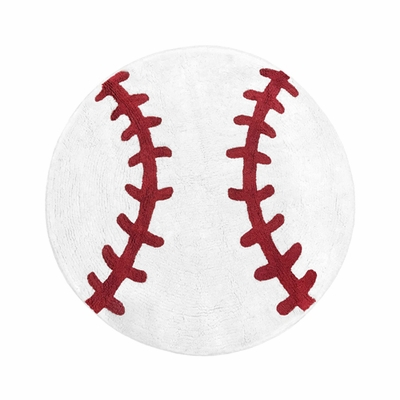 Baseball Patch Collection Accent Floor Rug