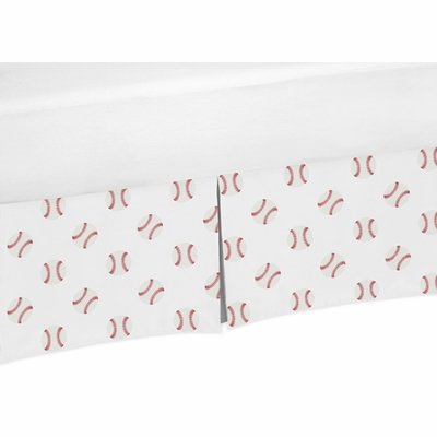 Baseball Patch Collection Crib Bed Skirt