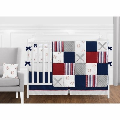 Baseball Patch Collection Crib Bedding
