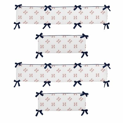 Baseball Patch Collection Crib Bumper Pad