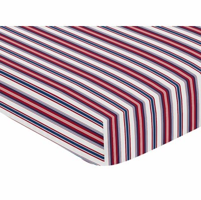 Baseball Patch Collection Crib Sheet - Striped