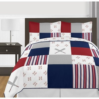 Baseball Patch Collection Full/Queen Bedding