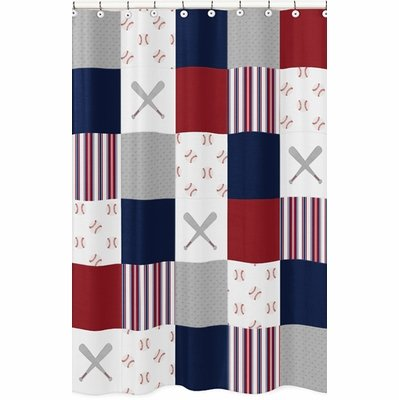 Baseball Patch Collection Shower Curtain