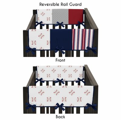 Baseball Patch Collection Side Rail Guard Covers - Set of 2