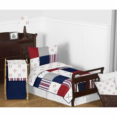 Baseball Patch Collection Toddler Bedding