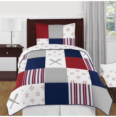 Baseball Patch Collection Twin Bedding