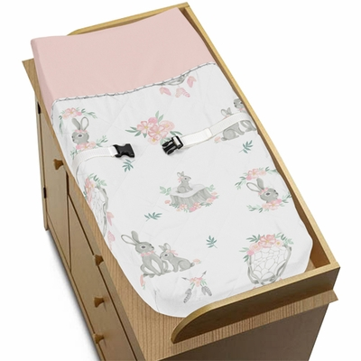 Bunny Floral Collection Changing Pad Cover