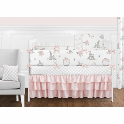 Bunny Floral Collection Crib Bedding