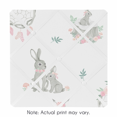 Bunny Floral Collection Fabric Memo Board