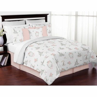 Bunny Floral Collection Full/Queen Bedding