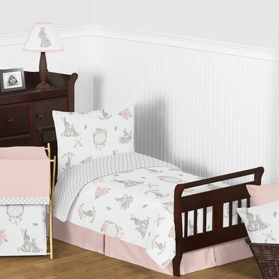 Bunny Floral Collection Toddler Bedding