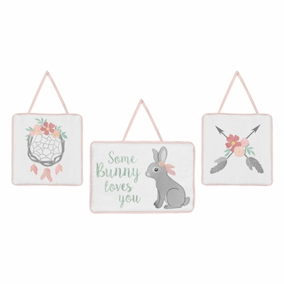 Bunny Floral Collection Wall Hangings