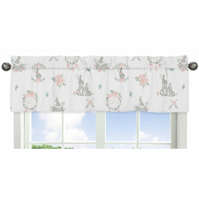 Bunny Floral Collection Window Valance