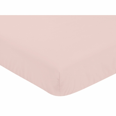 Butterfly Floral Collection Crib Sheet - Solid Blush Pink