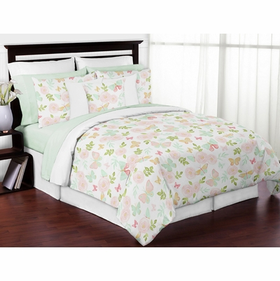 Butterfly Floral Collection Full/Queen Bedding