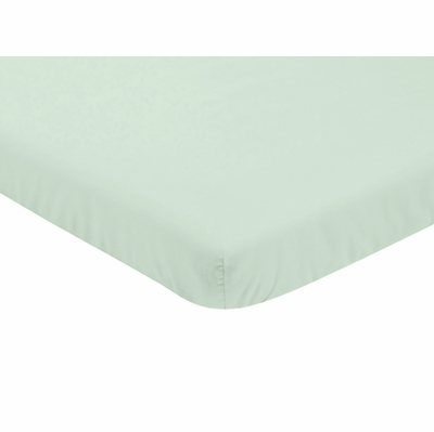 Butterfly Floral Collection Mini Crib Sheet - Solid Mint