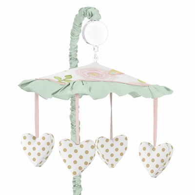 Butterfly Floral Collection Musical Mobile