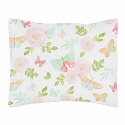 Butterfly Floral Collection Pillow Sham