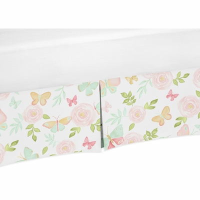 Butterfly Floral Collection Queen Bed Skirt