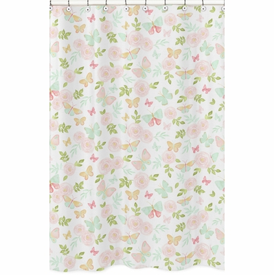 Butterfly Floral Collection Shower Curtain