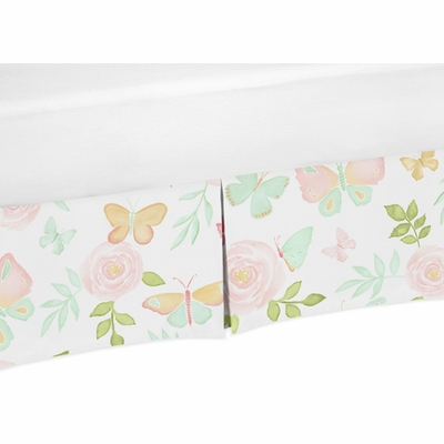 Butterfly Floral Collection Toddler Bed Skirt