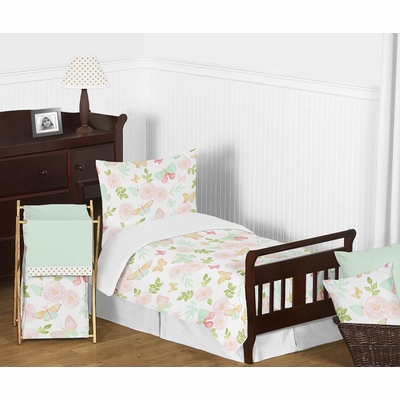 Butterfly Floral Collection Toddler Bedding