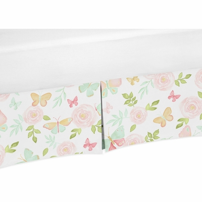 Butterfly Floral Collection Twin Bed Skirt