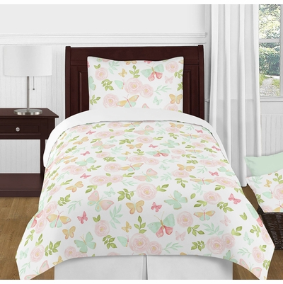 Butterfly Floral Collection Twin Bedding