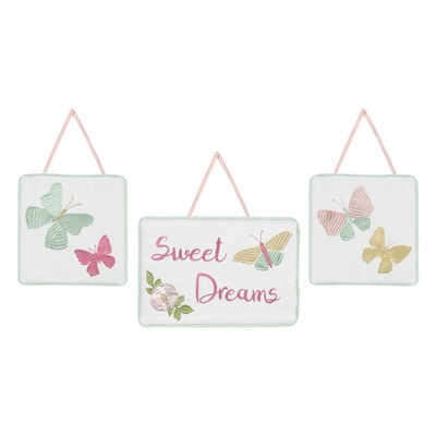 Butterfly Floral Collection Wall Hangings
