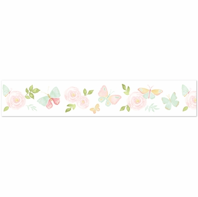 Butterfly Floral Collection Wallpaper Border