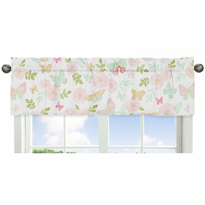 Butterfly Floral Collection Window Valance
