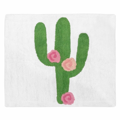 Cactus Floral Collection Accent Floor Rug