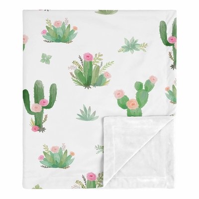 Cactus Floral Collection Baby Blanket