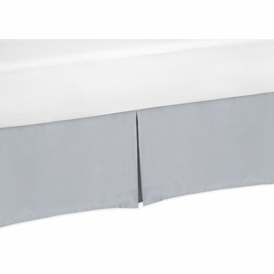 Chevron Gray and White Collection King Bed Skirt - Gray