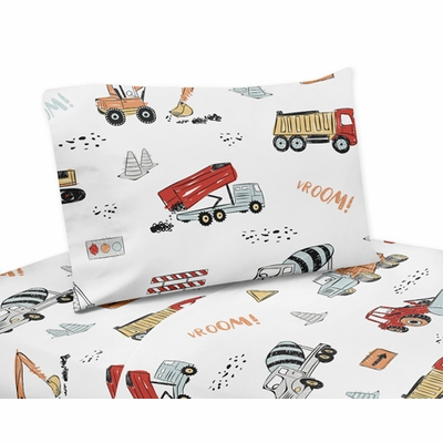 Construction Truck Collection Twin Sheet Set