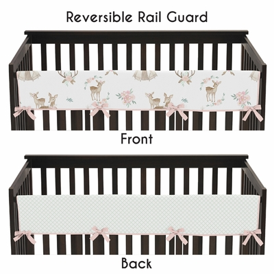 Deer Floral Collection Long Rail Guard Cover