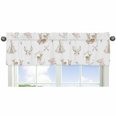 Deer Floral Collection Window Valance