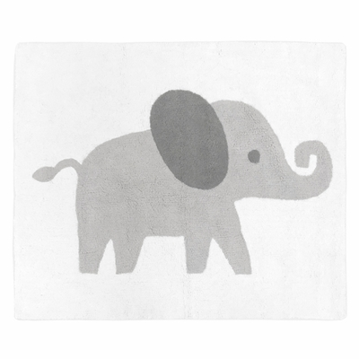 Elephant Grey and Blush Pink Collection Accent Floor Rug