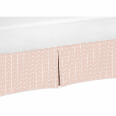 Elephant Grey and Blush Pink Collection Twin Bed Skirt